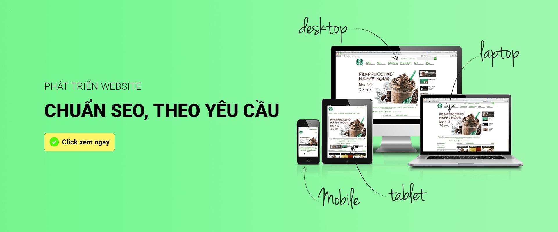 Thiết kế website theo yêu cầu, chuẩn seo